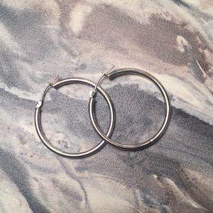 Banana Republic Sterling Silver Hoop Earrings